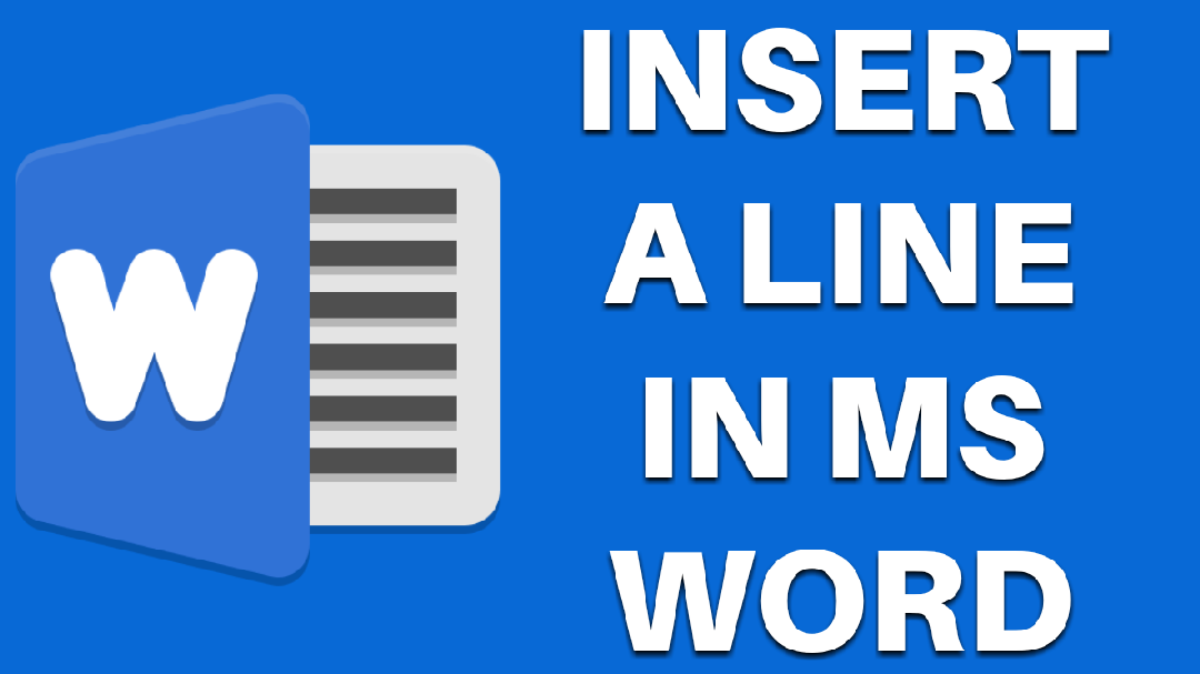 Insert a line Insert a line in ms word