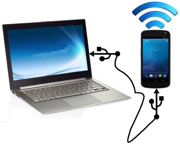 Share Internet From PC to Mobile by USB Share Internet PC to Mobile Using USB