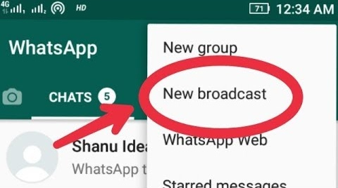 BROADCAST IN WHATSAPP