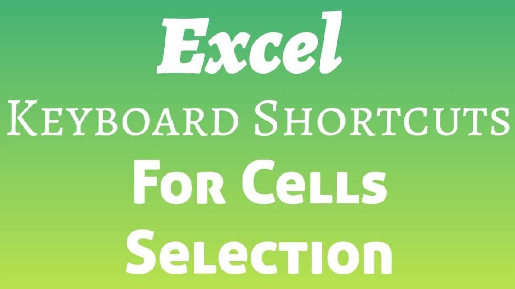 Cells in excel Excel